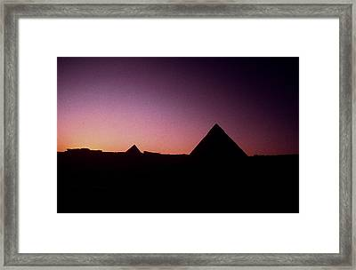 Egyptian Sunset Framed Print by Gary Wonning