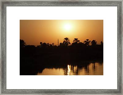 Framed Print featuring the photograph Egyptian Sunset by Silvia Bruno