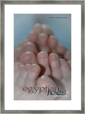 Egyptian Toes Framed Print by Vicki Ferrari