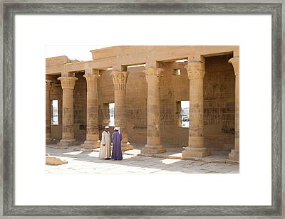 Egyptians Framed Print by Silvia Bruno
