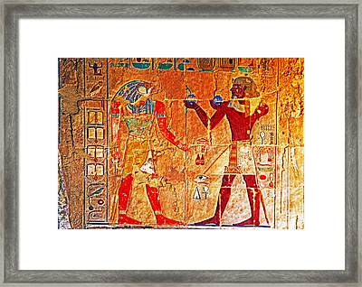 Egyptology Framed Print by Dennis Cox WorldViews