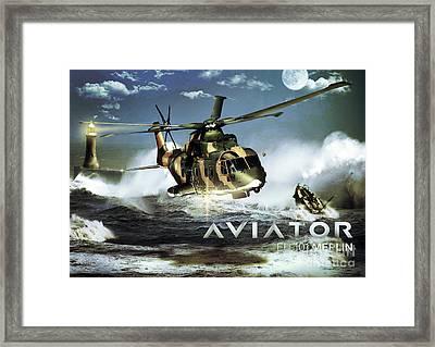 Eh-101 Merlin Helicopter Framed Print by Fernando Miranda