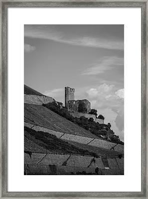 Ehrenfels Castle B W 02 Framed Print by Teresa Mucha