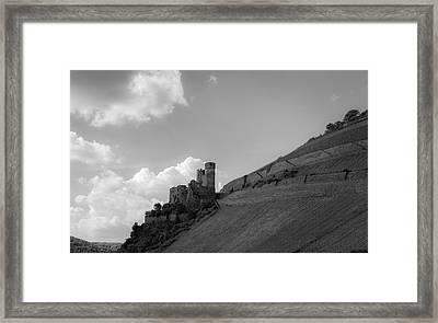Ehrenfels Castle B W Framed Print by Teresa Mucha