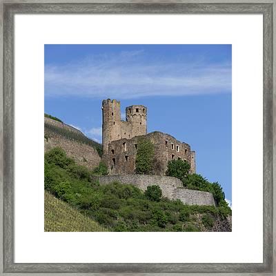 Ehrenfels Castle Squared 02 Framed Print by Teresa Mucha