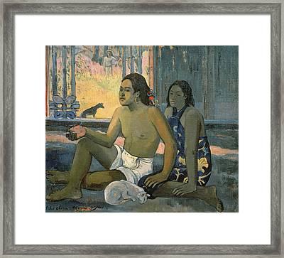 Eiaha Ohipa. Not Working Framed Print by Paul Gauguin