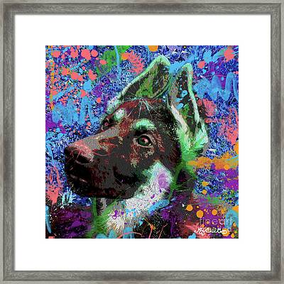 Eich Wears A Green Bonnet Framed Print by Art by MyChicC