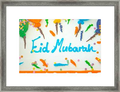 Eid Cake Framed Print by Tom Gowanlock