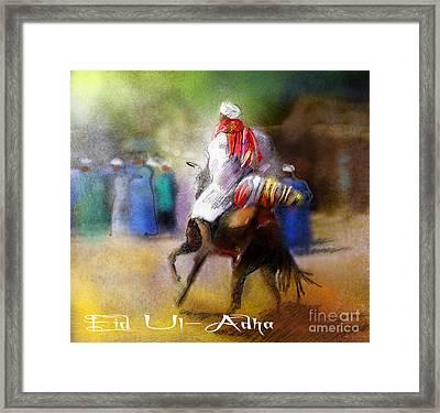 Eid Ul Adha Festivities Framed Print by Miki De Goodaboom