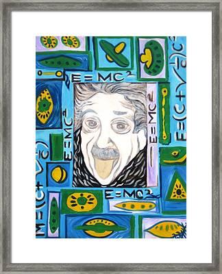 Eienstein Framed Print by Alfredo  Dane Llana