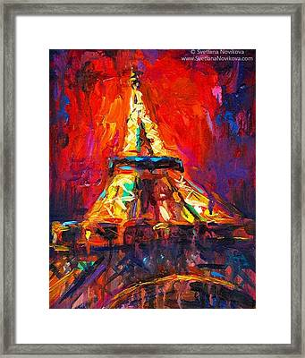 Eifell Tower By Svetlana Novikova ( All Framed Print