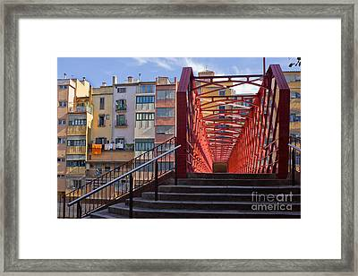 Eiffel Bridge Of Girona Framed Print