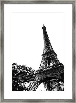 Eiffel Carousel Framed Print