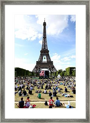 Eiffel Tower 14 Framed Print by Andrew Fare
