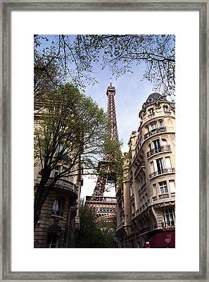 Framed Print featuring the photograph Eiffel Tower 2b by Andrew Fare