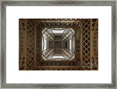 Eiffel Tower Abstract Framed Print