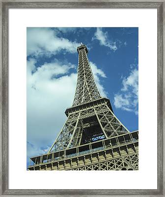 Framed Print featuring the photograph Eiffel Tower by Allen Sheffield