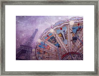 Eiffel Tower And Carousel Framed Print