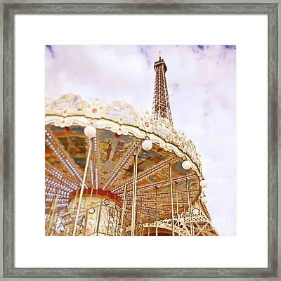Framed Print featuring the photograph Eiffel Tower And Carousel by Ivy Ho