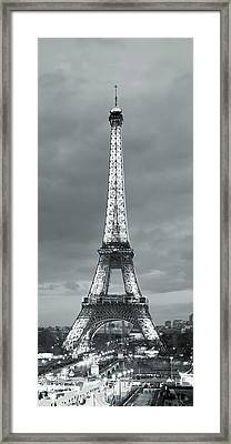 Eiffel Tower And Christmas Market Framed Print by Panoramic Images