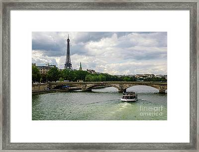 Eiffel Tower And The River Seine Framed Print