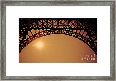 Eiffel Tower Arch Asian Style Framed Print by Venetta Archer
