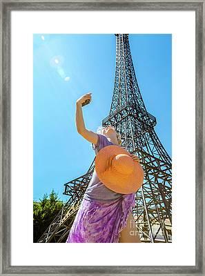 Eiffel Tower Framed Print by Benny Marty
