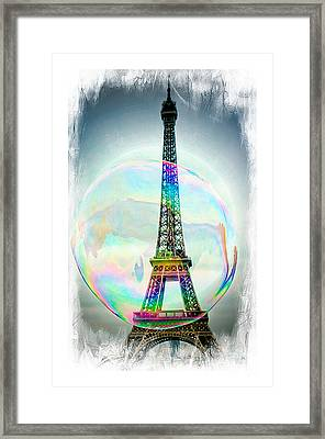 Eiffel Tower Bubble Framed Print