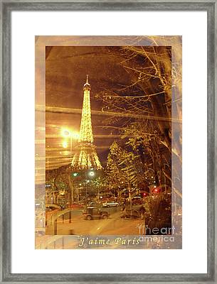 Eiffel Tower By Bus Tour Greeting Card Poster Framed Print by Felipe Adan Lerma