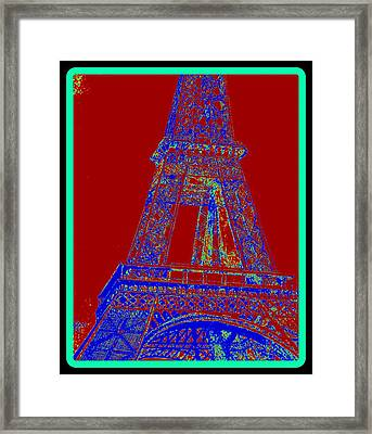 Eiffel Tower Carnival Framed Print