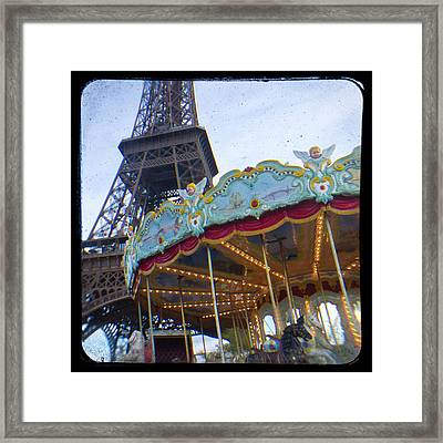 Framed Print featuring the photograph Eiffel Tower Carousel Ttv by Melanie Alexandra Price