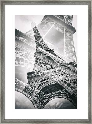 Eiffel Tower Double Exposure Framed Print