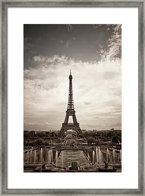 Eiffel Tower Framed Print by Ei Katsumata