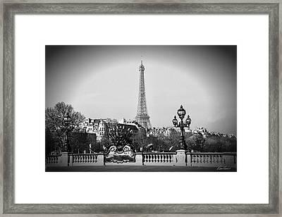 Eiffel Tower From Bridge Framed Print