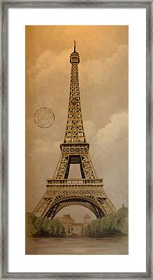 Eiffel Tower Framed Print by Holly Whiting