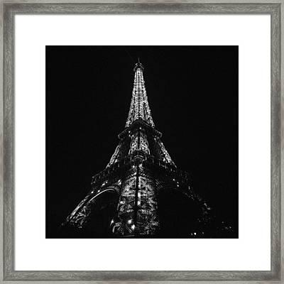 Eiffel Tower Illumination Framed Print by Marcus Karlsson Sall