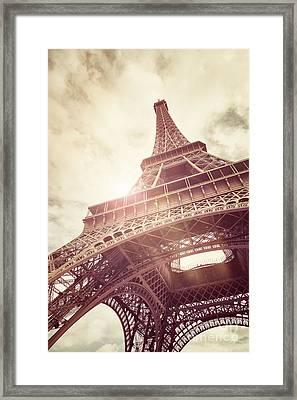 Eiffel Tower In Sunlight Framed Print by Jane Rix