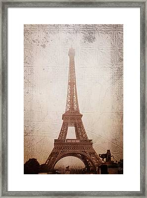 Eiffel Tower In The Mist Framed Print