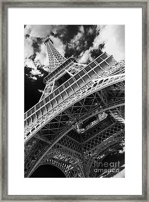 Eiffel Tower Infrared Abstract Framed Print