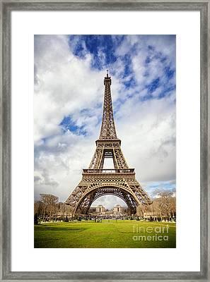 Eiffel Tower Framed Print by Jane Rix