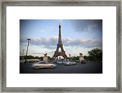 Eiffel Tower Framed Print by Krista  Corcoran Photography