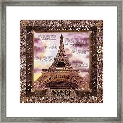 Eiffel Tower Laces V Framed Print by Irina Sztukowski