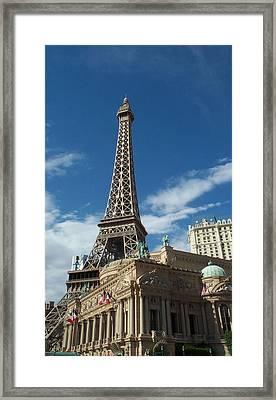 Eiffel Tower Las Vegas Nevada Framed Print by Alan Espasandin