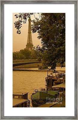 Eiffel Tower Framed Print by Louise Fahy