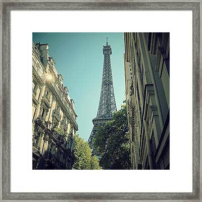 Eiffel Tower Framed Print by Louise LeGresley