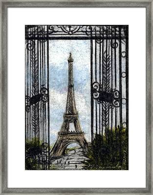 Eiffel Tower Framed Print by Melissa J Szymanski