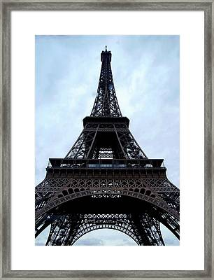 Framed Print featuring the photograph Eiffel Tower by Nancy Bradley