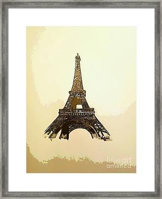 Eiffel Tower Paris France - Abstract  Framed Print by Scott D Van Osdol