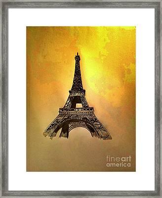 Eiffel Tower, Paris France Framed Print by Scott D Van Osdol