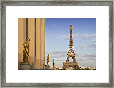 Eiffel Tower Paris Trocadero  Framed Print